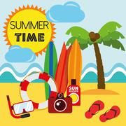 Stock Illustration of Illustration Graphic Vector Summer, Travel, Holiday