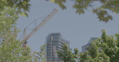 LS Framed tower Crane Stock Footage