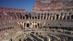 Stock Video Footage of ULTRA HD 4K real time shot, the arena inside the Roman Colosseum.