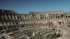 ULTRA HD 4K real time shot, the arena inside the Roman Colosseum. - stock footage