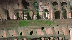 ULTRA HD 4K real time shot, the arena inside the Roman Colosseum. Stock Footage