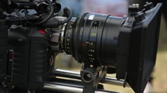 Cinema camera shooting Stock Footage