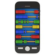 Smartphone with abacus Stock Illustration