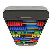 Stock Illustration of Smartphone with abacus