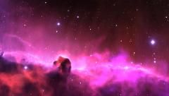 fly through outer space nebula and stars - stock footage