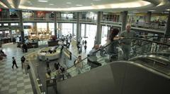Congonhas Airport, Sao Paulo, Brazil. CGH, Passengers Hall. Timelapse Stock Footage