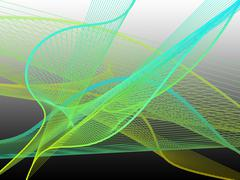 Dynamic and Bright Linear Spiral with Colorful Greadient - stock illustration