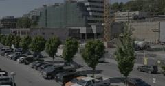 WS Tower crane Tilt Up Stock Footage