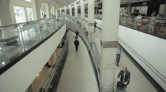 Congonhas Airport, Sao Paulo, Brazil. CGH, Passengers Corridor. Tourists Stock Footage