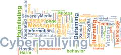 Stock Illustration of Cyberbullying background concept