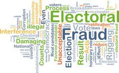 Electoral fraud background concept Stock Illustration