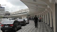 Congonhas Airport, Sao Paulo, Brazil. CGH, Passengers Terminal. Entrance Stock Footage