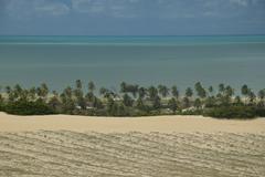 Crystalline sea beach in Natal,Brazil Stock Photos