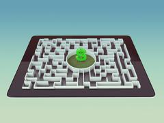 Maze Strategy Success Solution Determination Direction Concept Stock Illustration