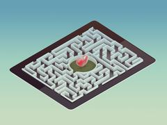 Maze Strategy Success Solution Determination Direction Concept Stock Illustration