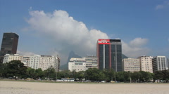 Guanabara Bay, Rio de Janeiro, Brazil. Botafogo, Buildings, chirst redeemer Stock Footage