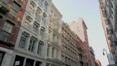 Soho Architecture in the Summertime. NYC Soho Neighborhood. Stock Footage