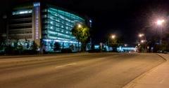 Motion timelapse of Kaye Clinic in Edmonton, Alberta - stock footage