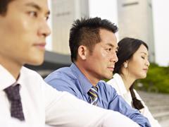 Asian businesspeople Stock Photos