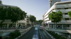 Tel Aviv city center Israel time lapse 4k Stock Footage