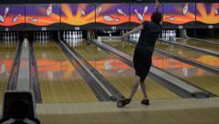 Bowler Bowling Strike Stock Footage