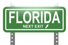 Florida green sign board isolated - stock illustration