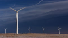 Wind turbine generator Wind farm Stock Footage
