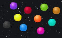 Fluffy balls in the space Stock Illustration