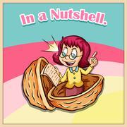 Idiom in a nutshell Stock Illustration