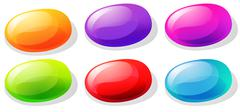 Jelly beans in many colors - stock illustration