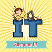 Idiom sleep on it Piirros