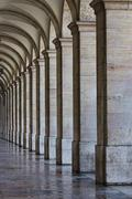 Stock Photo of Commerce Square 18th century Arcades in Lisbon, Portugal