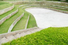 amphitheater and outdoor stage - stock photo