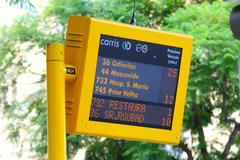 Stock Photo of departure timetable