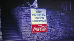 1969: Coca Cola sign and European shipping and distribution operation. Stock Footage