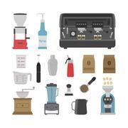 barista tool - stock illustration