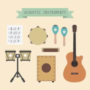 acoustic band - stock illustration