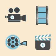 Entertainment icon Stock Illustration