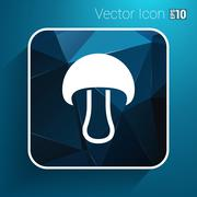 Mushroom sign icon. Boletus mushroom symbol concept - stock illustration