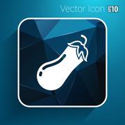 Icon of eggplant Logo label icon vector - stock illustration