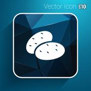 Icon potato isolated vegetarian chips meal ripe two logo Stock Illustration