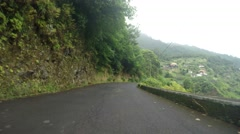 Drivers View in forest, Madeira Stock Footage
