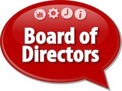 Board of Directors Business term speech bubble illustration Stock Illustration