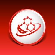 Natural components icon molecule illustration science nature - stock illustration