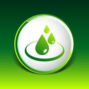 Stock Illustration of water drop rain vector droplet icon fluid clean design