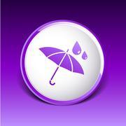waterproof icon water proof vector symbol umbrella - stock illustration