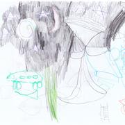 Children Drawing Stock Illustration