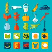 Stock Illustration of Set of agriculture icons