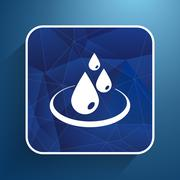 water drop rain vector droplet icon fluid clean design - stock illustration