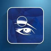 Human eye vector isolated eyebrow female makeup beauty eyesight - stock illustration